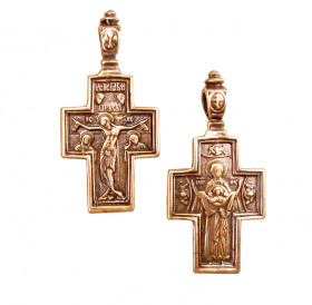 Double-sided copper cross. 38x19mm