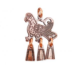 """Noisy pendant """"Winged beast-bird"""""""