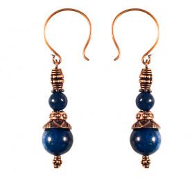 Single earrings №1 with lapis lazuli