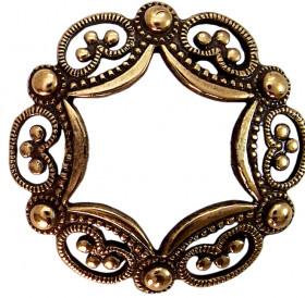 Openwork Western European ring-shaped brooch