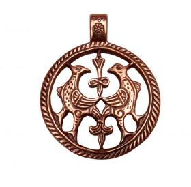 """Slotted pendant """"Terekhovskie birds"""""""