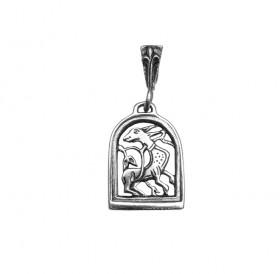 "Slotted pendant ""Wonderful beast with a flourishing tail"""