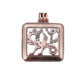 "Slotted pendant ""Double-headed griffin"""
