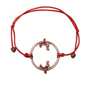 """Bracelet-lace """"Birds in a ring"""""""