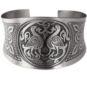 """Concave bracelet """"Suzdal pigeons"""""""