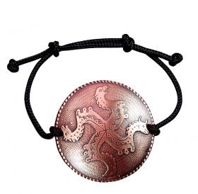 """Bracelet-lace """"Solntsevorot"""". Embossing"""