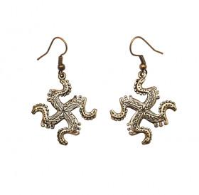 """Earrings slotted """"Solntsevorot"""""""