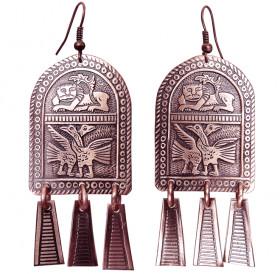 """Noisy earrings """"Vladimir geese-swans"""""""