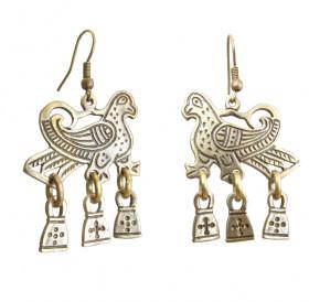 Noisy falcon earrings