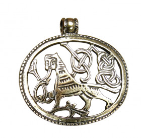 """Slotted pendant """"King of beasts"""""""