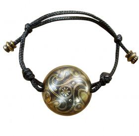 Браслет-шнурок сферический «Трискелион»