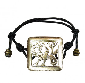 "Bracelet-lace ""Double-headed griffin"""