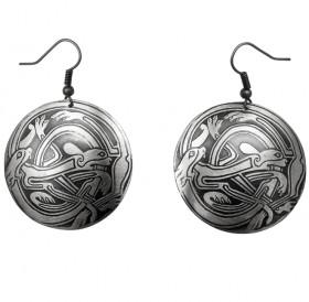 "Earrings ""Celtic Interlaced Dogs"""