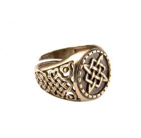 Кольцо узорчатое «Квадрат Сварога»