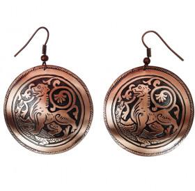 """Earrings """"Suzdal lion"""""""