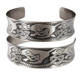 """Concave bracelet """"Celtic dogs"""""""