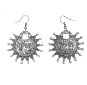 "Earrings ""Two-headed griffins"""
