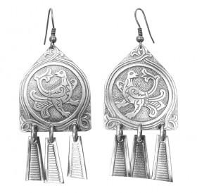 "Noisy earrings ""Gorlitsa"""