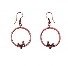 "Earrings ""Birds in a ring"""