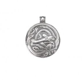 """Cast pendant """"Intertwined dogs"""""""