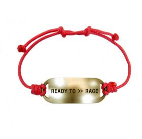 Bracelet-lace «READY TO >> RACE»