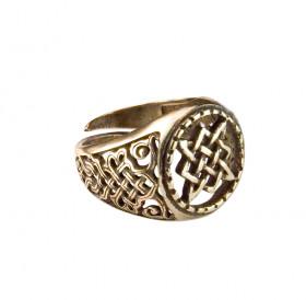 "Cut-patterned ring ""Svarog Square"""