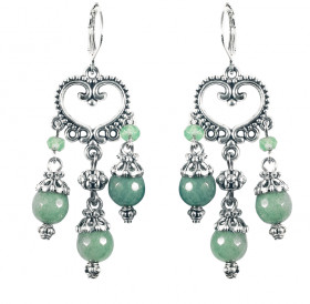 "Earrings ""Princely"" No. 3 with chrysoprase"