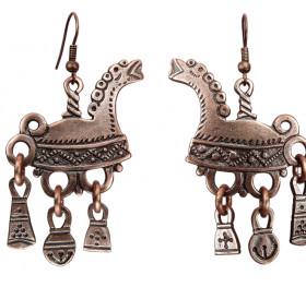 """Earrings """"Skates from the Begunitsy village"""""""