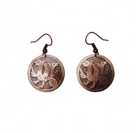 "Earrings ""Double-headed griffins"""