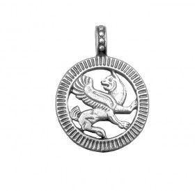 """Slotted pendant """"Persian griffin"""""""