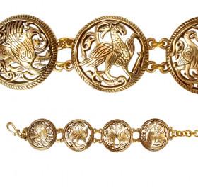 "Slotted bracelet ""Suzdal animals and birds"""