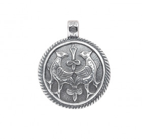 """Cast pendant """"Terekhovskie birds"""""""