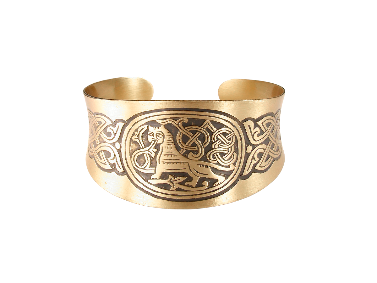 """Concave bracelet """"King of beasts"""""""