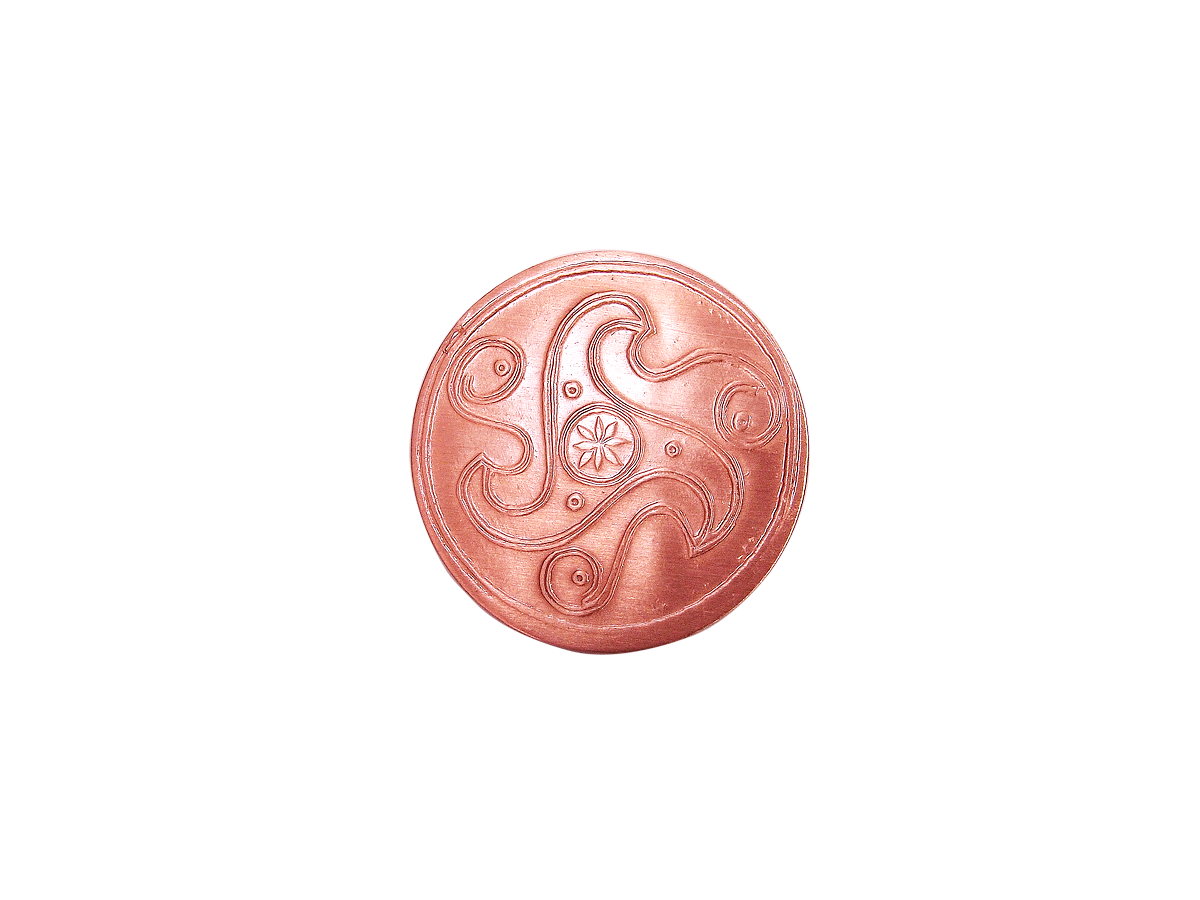 Пятак медный «Трискелион»