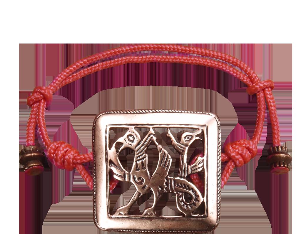 Браслет-шнурок «Двуглавый грифон»