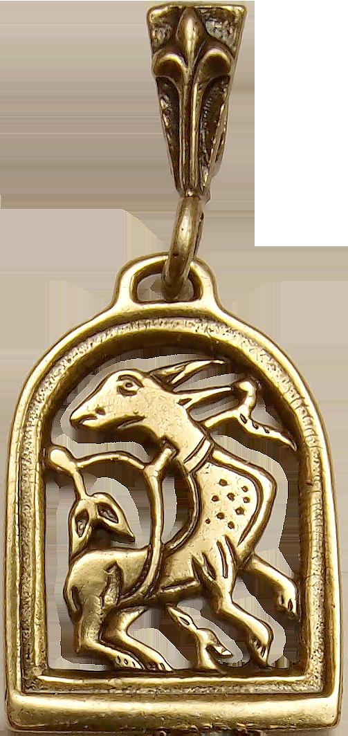 Подвеска прорезная «Диво-зверь с процветшим хвостом»