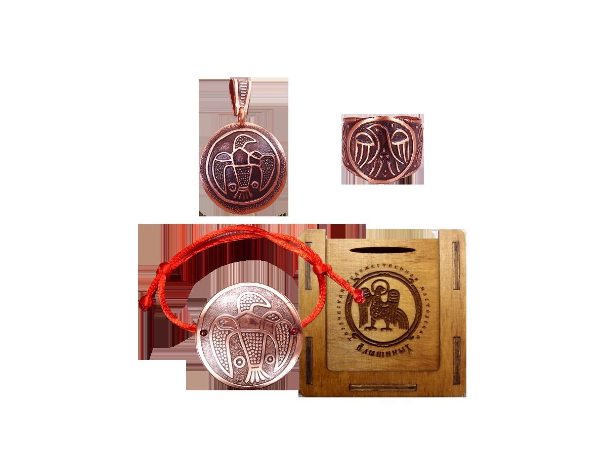 Комплект украшений «Сокол» №1 в подарочной упаковке