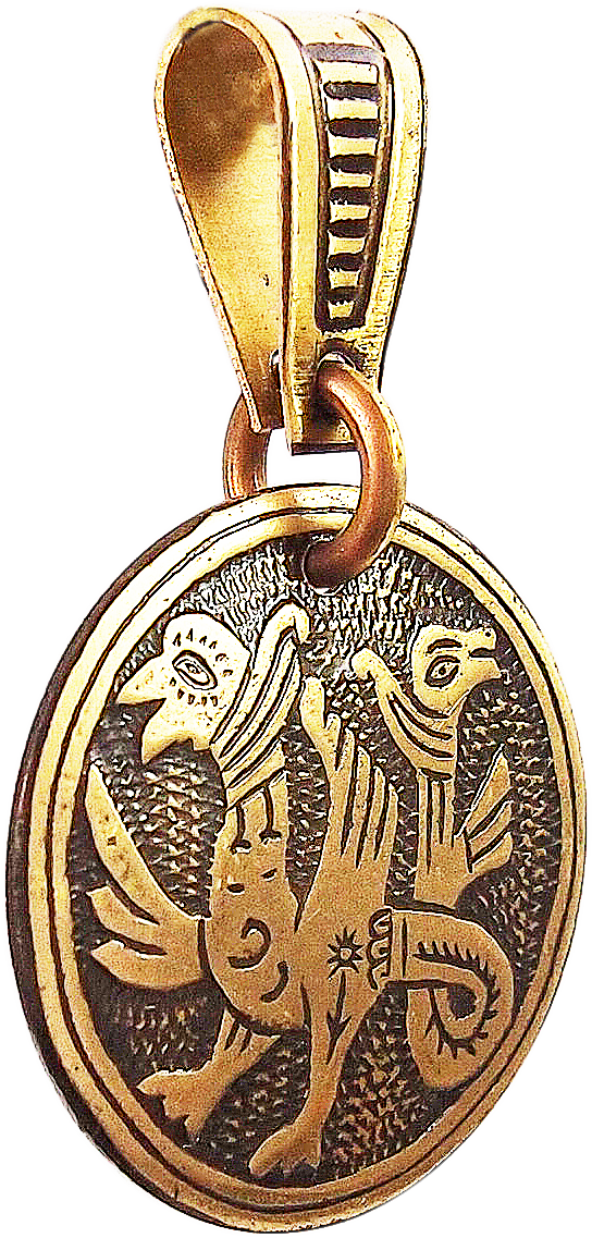 "Pendant ""Double-headed griffins"""