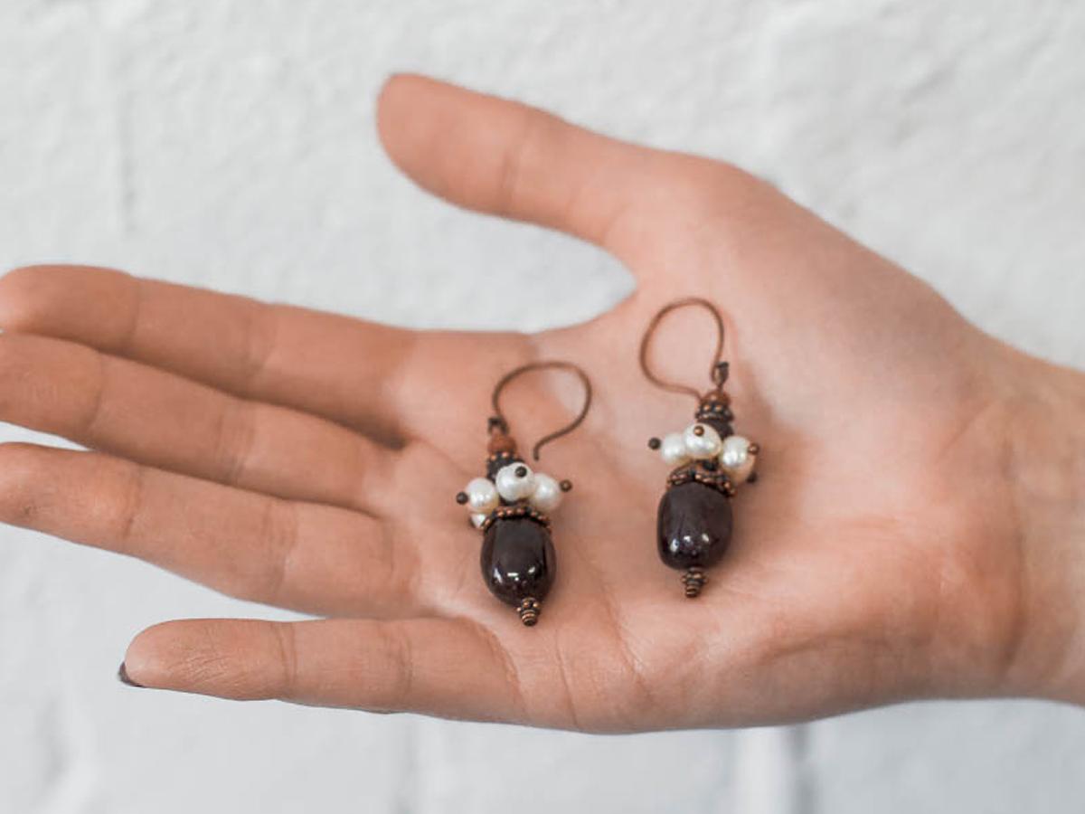 """Earrings """"Martha Posadnitsa"""""""