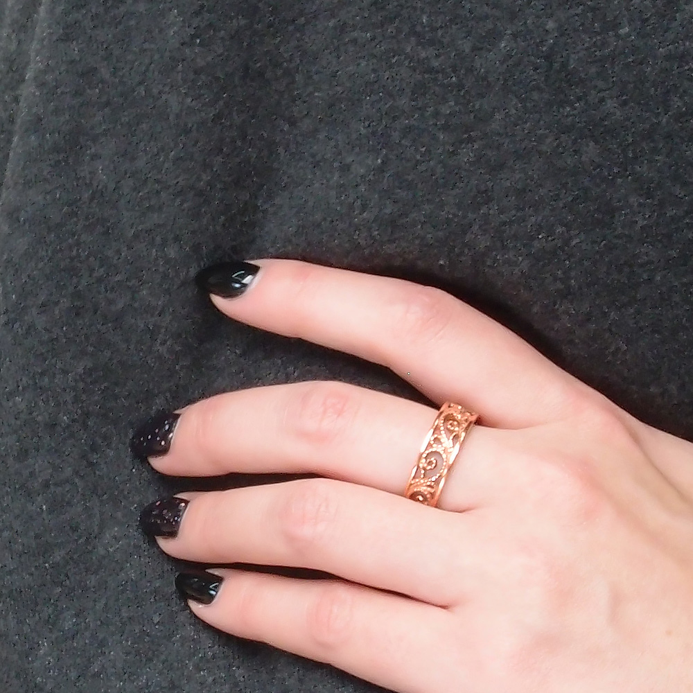 """Ring """"Ruslana"""" slotted untinted"""