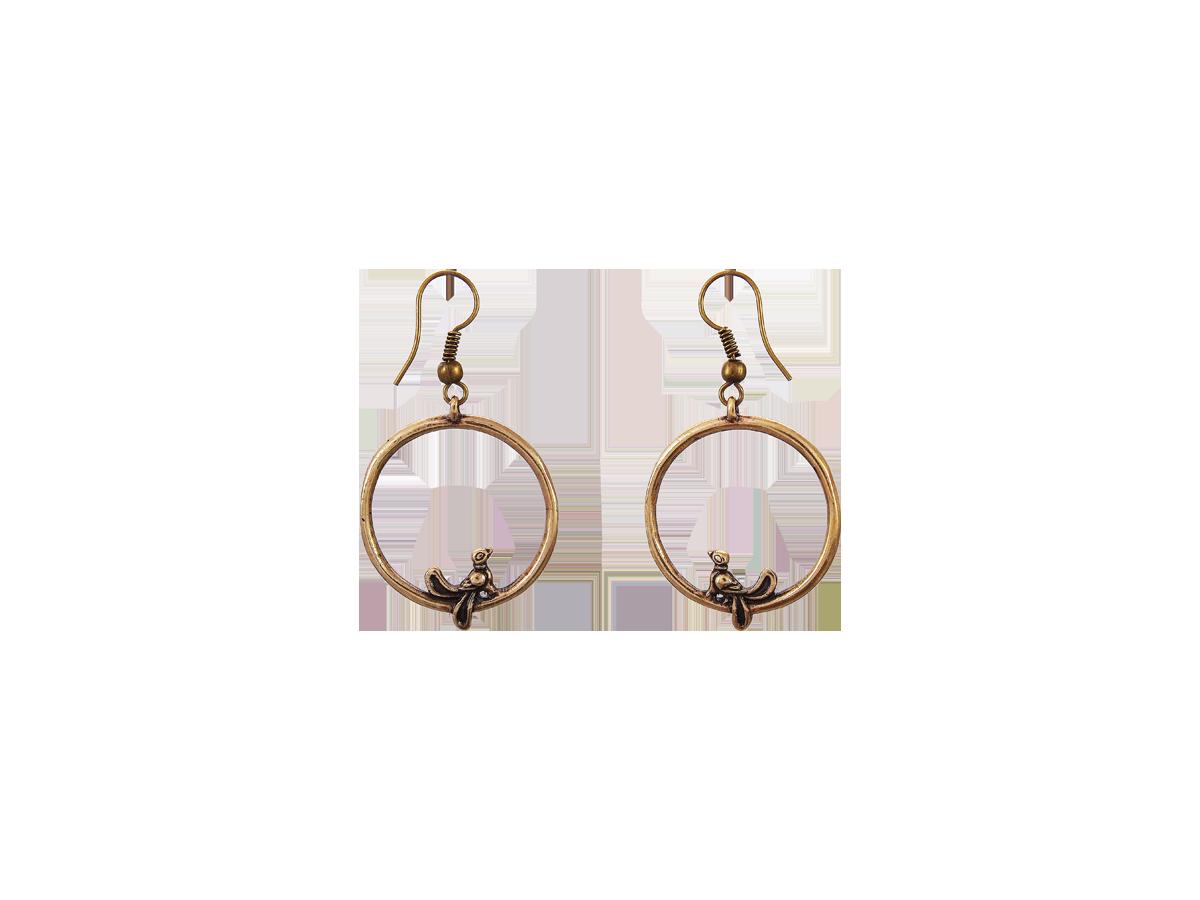 """Earrings """"Birds in a ring"""""""