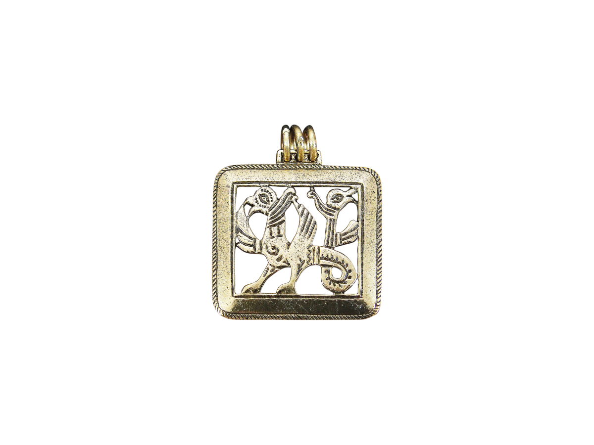 """Slotted pendant """"Double-headed griffin"""""""