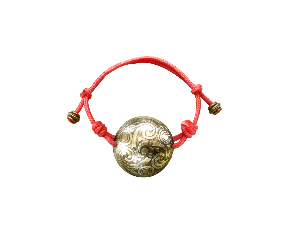 """Spherical bracelet-cord """"Three-legged Kolovrat"""""""