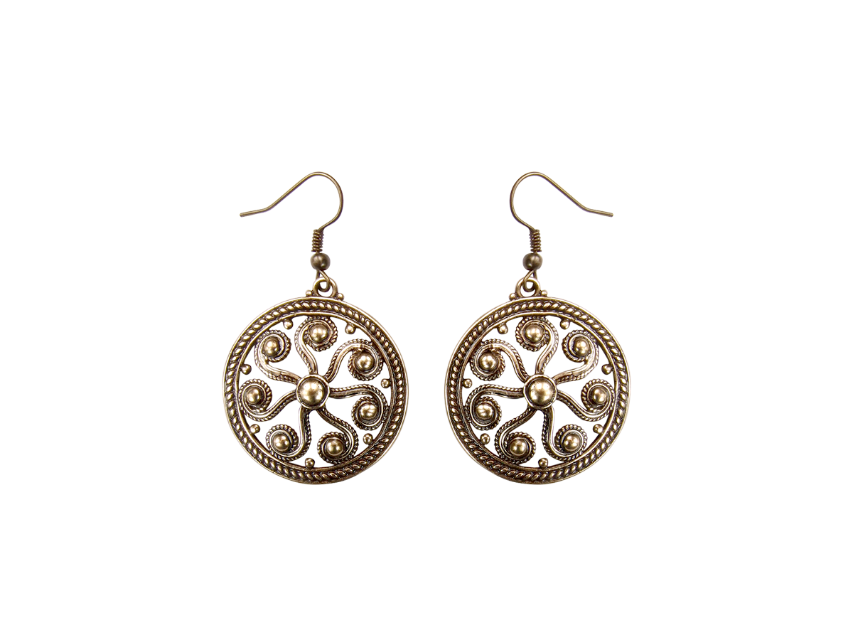 """Earrings slotted """"Segner's wheel"""""""