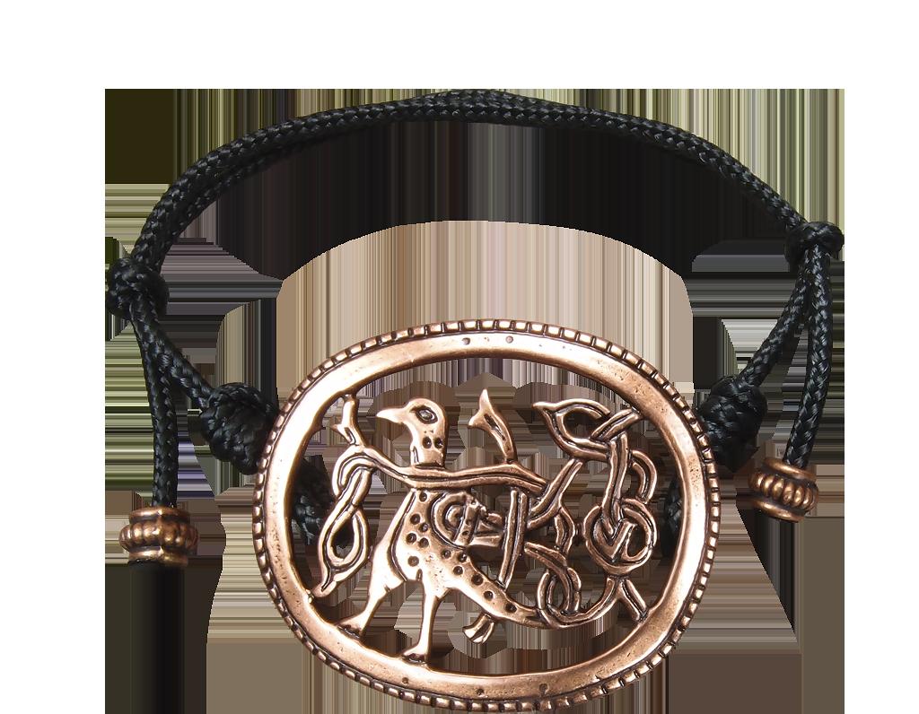 Браслет-шнурок «Птица с переплетенным хвостом»
